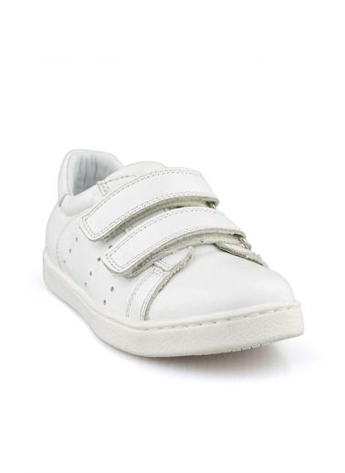 Cicibebe Deri Erkek Çocuk Ayakkabısı Beyaz